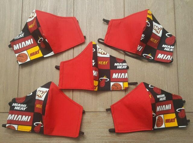 Miami Heat Face Mask Adult Large Ebay