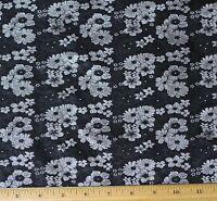 Black/white Brocade Jacquard 100% Silk Fabric, 44 Wide, By The Yard (jd-364)