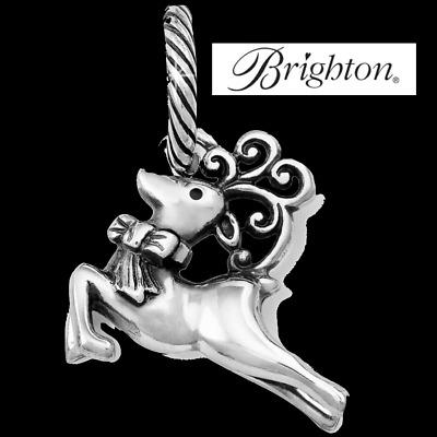 Brighton Christmas Dancer Deer silver charm bead    NWOT
