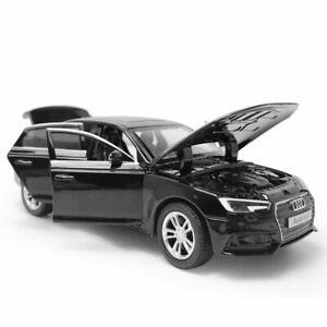 AUDI-A4-1-32-Modelo-de-Coche-de-juguete-Diecast-Vehiculo-Ninos-Coleccion-Luz-Sonido-Negro
