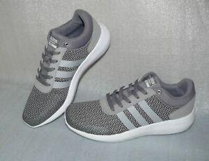 Sneaker Adidas NEO Blau Grau Mesh Leder Atmungsaktiv