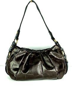 Women-Simply-Vera-by-VERA-WANG-Brown-Alligator-Crocodile-Shoulder-Purse-Handbag