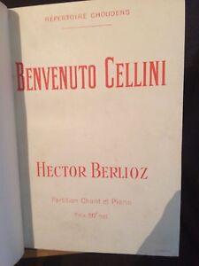 Hector-Berlioz-Benvenuto-Cellini-partition-chant-piano-reliee-Choudens
