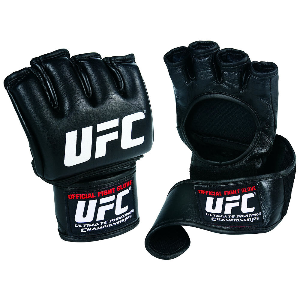 Official UFC Fight Boxing Gloves Leder MMA Boxing Fight Training Grappling Wrist Wrap 2890bb