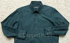 MINT! STEFANO RICCI Woven Green Tartan Plaid Shirt-Men M-Made in Italy-$750