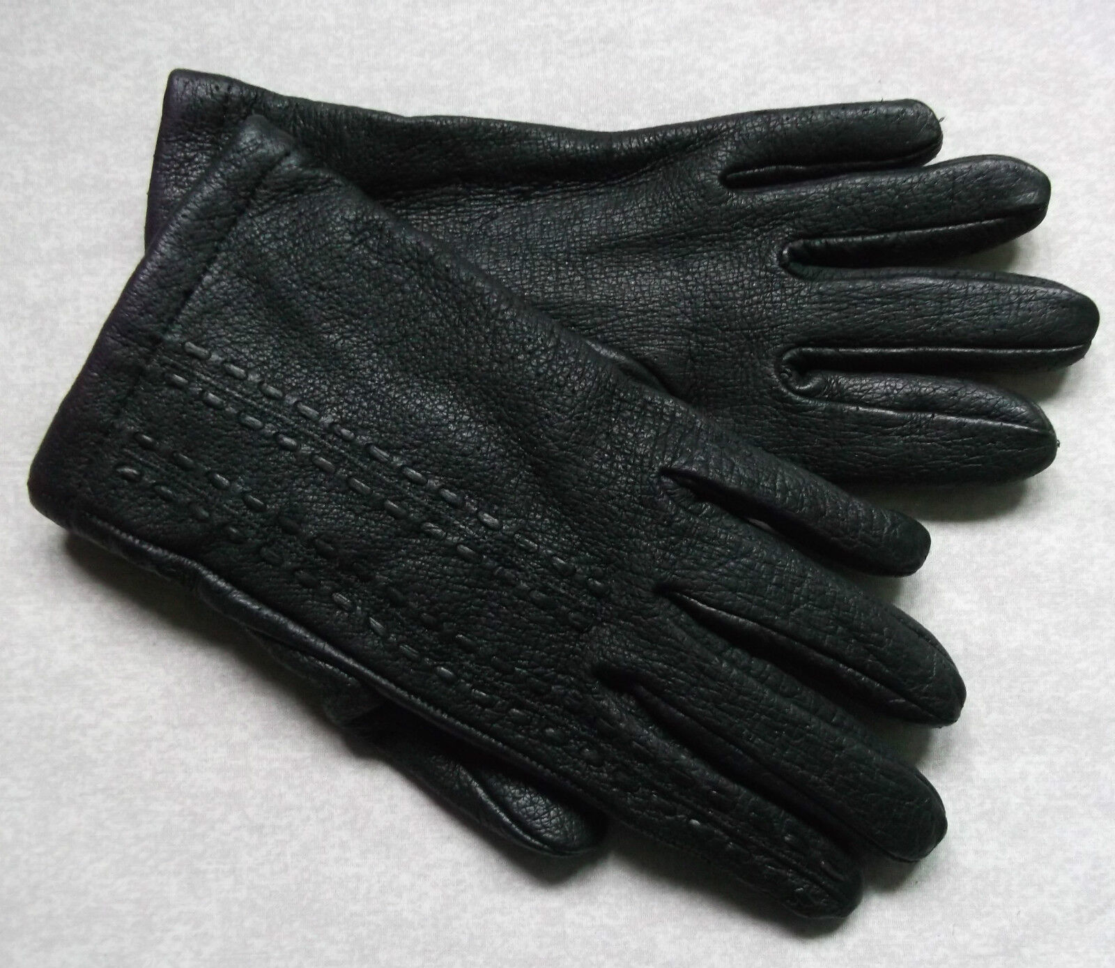 Vintage Gloves WOMENS Leather Retro BLACK
