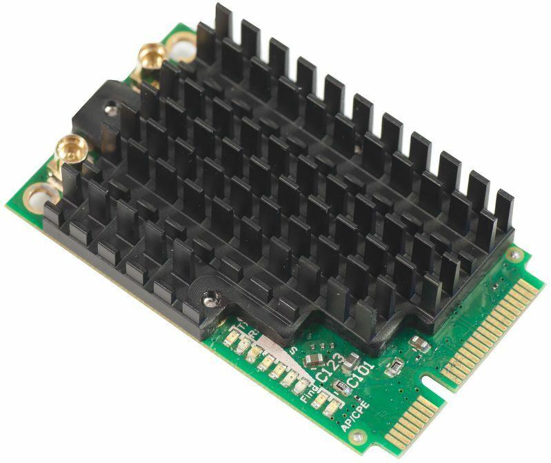 Mikrotik New R11e-2HPnD 2.4GHz 802.11n Dual Chain miniPCI-e Wireless Card w/MMCX