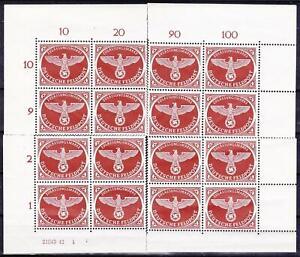 WWII-3rd-Reich-MNH-Feldpost-16-Stamps-4-Corner-Blocks