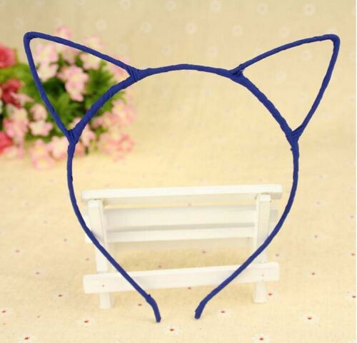 Girl Kids Women Cute Chiffon Wrapped Cat Kitty Ear Headband Party Costume