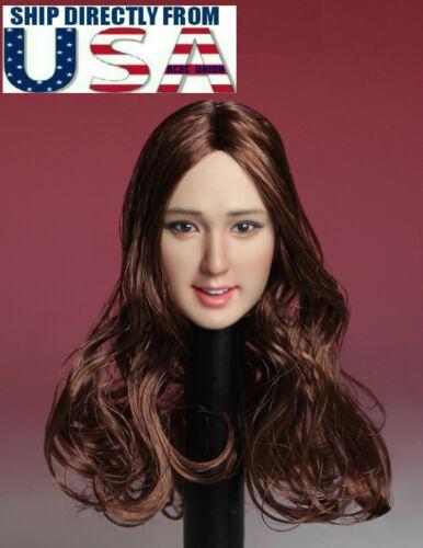 1//6 LangM-001 Soldier Head Sculpture Female Asia Beauty Head Carving F12/'/'Figure