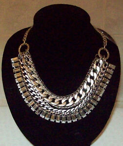 Ladies  Womens Silver Coloured 5 Chain Necklace New amp Unworn - <span itemprop=availableAtOrFrom>Doncaster, South Yorkshire, United Kingdom</span> - Ladies  Womens Silver Coloured 5 Chain Necklace New amp Unworn - Doncaster, South Yorkshire, United Kingdom
