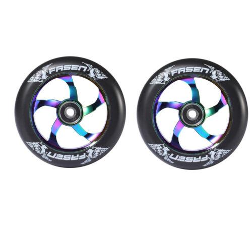 Blunt Envy // Fasen 110mm Stunt Scooter Wheels Abec 9 Bearings NEW PAIR
