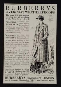 1921 Burberry Overcoat Coat vintage print Ad