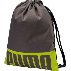3ba4d2266e Image is loading Puma-Deck-Gym-Bag-Sack-Unisex-Grey-Green-