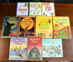 Lot-10-HB-PB-Poetry-Collection-Books-by-Jack-Prelutsky-Rhymes-J1