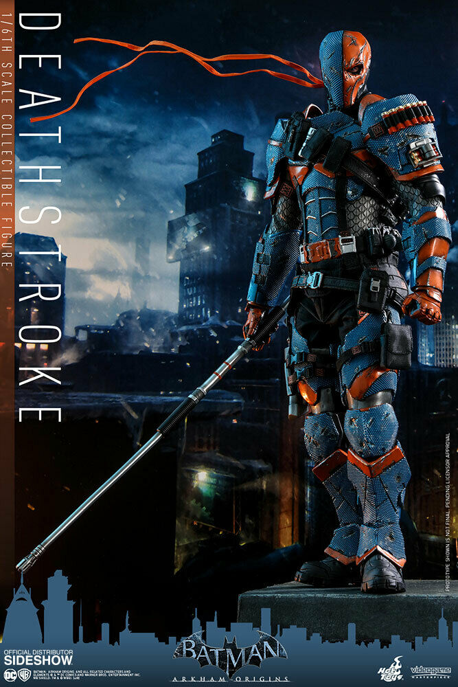 Hot Toys Batman  Arkham Origins Deathstroke 12  Action Figure 1 6 Scale VGM30