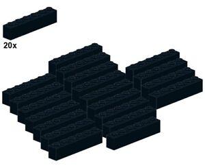 Used-LEGO-Bricks-Black-3009-04-1x6-20Stk-Stein-Schwarz