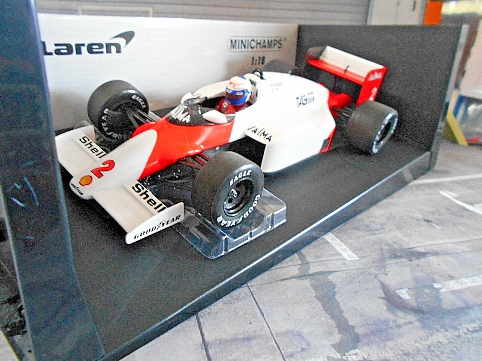 F1 McLaren Porsche mp4 2b mp4 Tag 1985 Cheers + decals Minichamps MARLBOR 1 18