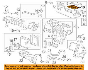 GM-OEM-Evaporator-Heater-Access-Cover-20968419