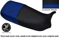 BLACK ROYAL BLUE VINYL CUSTOM FITS HONDA XL 600 V TRANSALP DUAL SEAT COVER ONLY