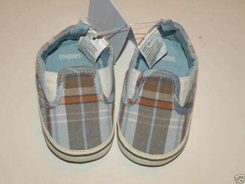 GYMBOREE PLAID SLIP-ON SNEAKERS CRIB SHOES 01 03 04 NWT