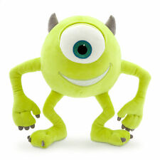 """Disney Store Authentic Patch Mike Wazowski Monsters Inc Plush 10 1/2"""" Toy Doll"""
