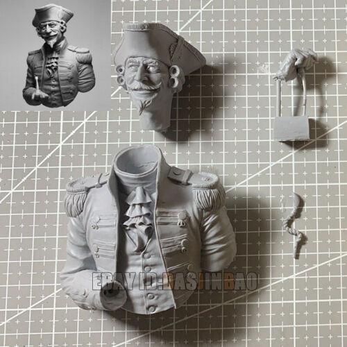 Unpainted 1//9 Baron Bust Resin Male Figure Model Kit Garage Kit Unassembled GK