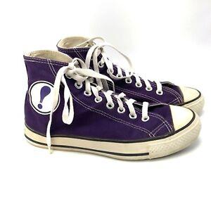 online store 458ba fd5e6 Image is loading Vintage-WAM-NET-Internet-Purple-High-Top-Canvas-
