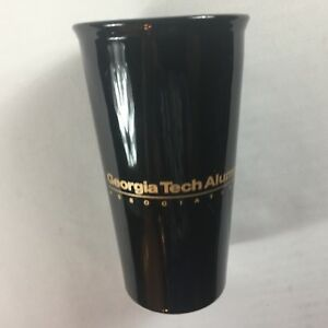 Georgia-Tech-Alumni-Travel-Mug-Double-Walled-Insulated-Yellow-Jackets-Black-Cup