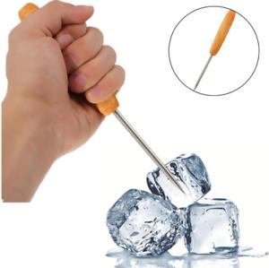 Acier Inoxydable Pic à Glace Crusher Catering Mixologie Bar outil avec manche en bois ψ