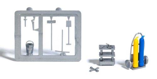 Schweißgerät und Werkzeuge #NEU in OVP# BUSCH 7785 Spur H0 Mini-Set