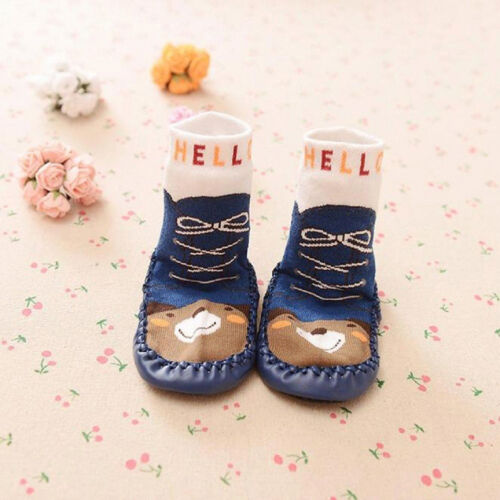 Baby Toddler Infants Girl Boy Non-Slip Socks Booties Warmer Shoes Slippers 3Size