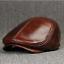 Men-Real-Genuine-Leather-Cowhide-Warm-Beret-Dad-Hats-Fashion-Ivy-Cap-Earlap-Cap miniature 9
