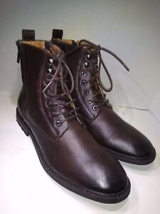 7c971c2417a Details about ROBERT WAYNE THATCHER LACE BOOT BROWN ANKLE HIGHTOP BOTH SIDE  ZIP Sz 11 D