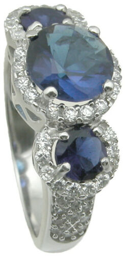 Details about  /Elegant Womens 3.30 CT Simulated Sapphire Wedding RING Size 5-9