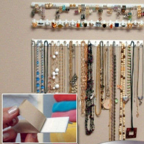 9Pc Jewelry Wall Hanger Holder Stand Organizer Necklace Bracelet Perfect Fine