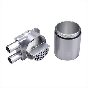 Billet-Aluminium-Double-Baffled-Close-Loop-Engine-Oil-Catch-Can-19mm-Barb-Silver
