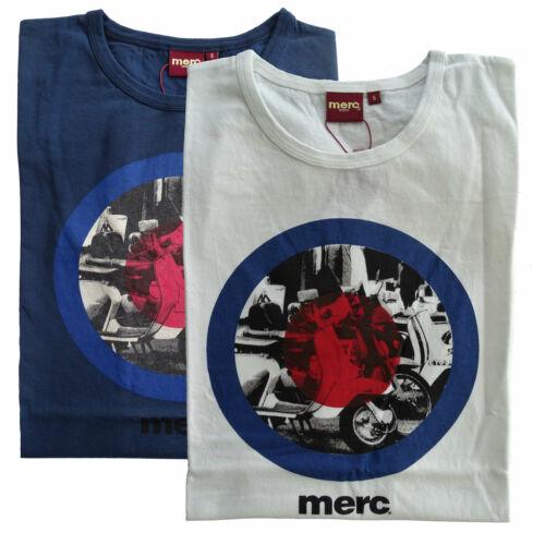 T-shirt Maglia Maniche Corte MERC London Granville 100/% Cotone Uomo Men Blu Blue