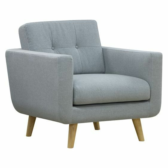 Zanui Larsen Light Grey Armchair NEW Zanui