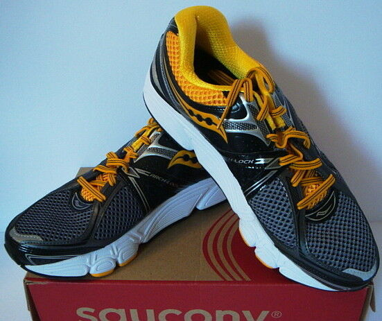 Saucony Progrid Echelon 3 Athletic Running Shoes Gray Black Yellow Mens New 11.5