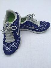 Nike Free Run 3.0 V4 Men's Size 9.5 Running Shoes Royal Blue Grey 511457 004