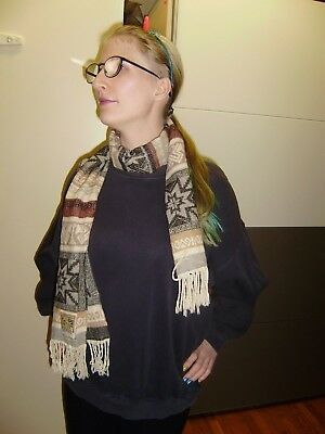 Cottera Schal Braun Gemustert