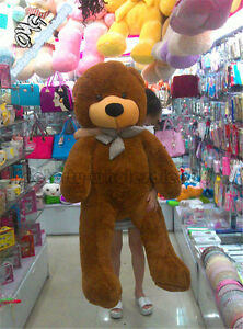 Top-Sale-55-039-039-Huge-Big-Brown-Teddy-Bear-Plush-Soft-Toy-Doll-Pillow-Giant-Gifts