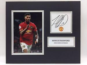 RARE-Marcus-Rashford-Manchester-United-Signed-Photo-Display-COA-AUTOGRAPH