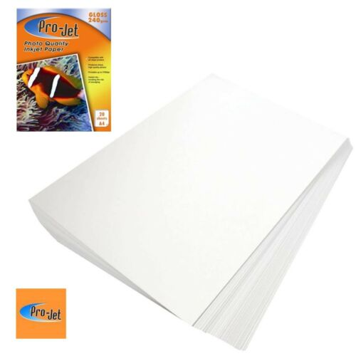 MULTI BUY DISCOUNTS PRO-JET A4 PHOTO PAPER 20 SHEETS 240GSM GLOSS FINISH