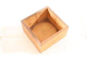 Old-Box-Wood-16-5x16-5x9cm-Transport-Chest-Storage-Measuring-Tool-Vintage
