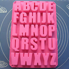 Silicone Alphabet Letters Fondant Mold Mould Sugarcraft Cutter Cake Decorating