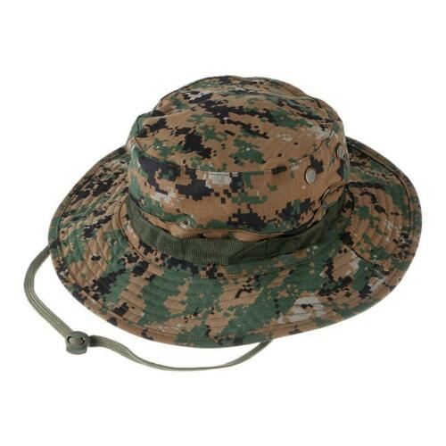 Combat Sun Cap Ripstop Army Military Boonie Bush Jungle Hat Digital Woodland