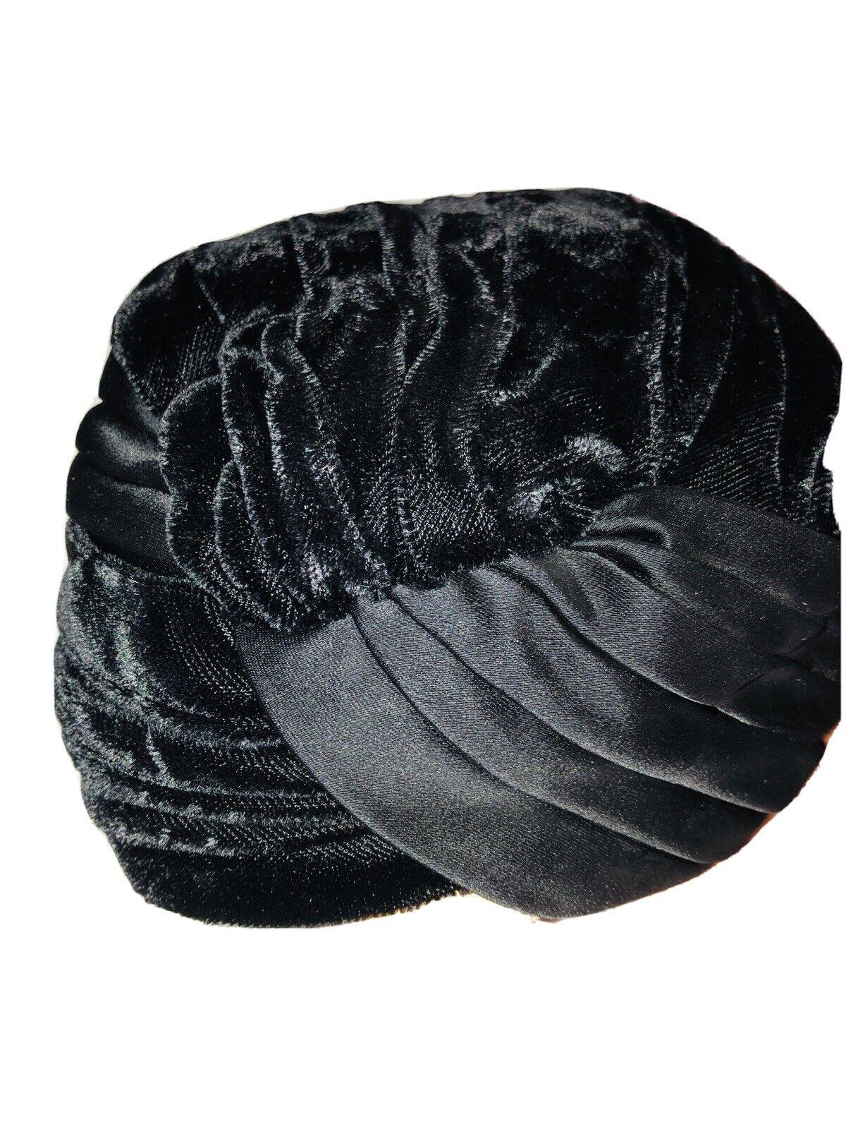 Dutch Vtg 40's 50's Pill Box Style Formal Women's Black Hat Simons Netherlands