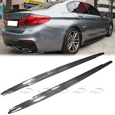 Carbon Fiber P Style Side Skirt Extensions 2PCS for BMW F22 F23 2-Series M Sport